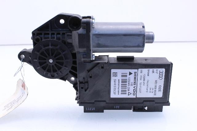 Passenger right rear window regulator motor 2007 audi a4 for 2001 audi a4 rear window regulator