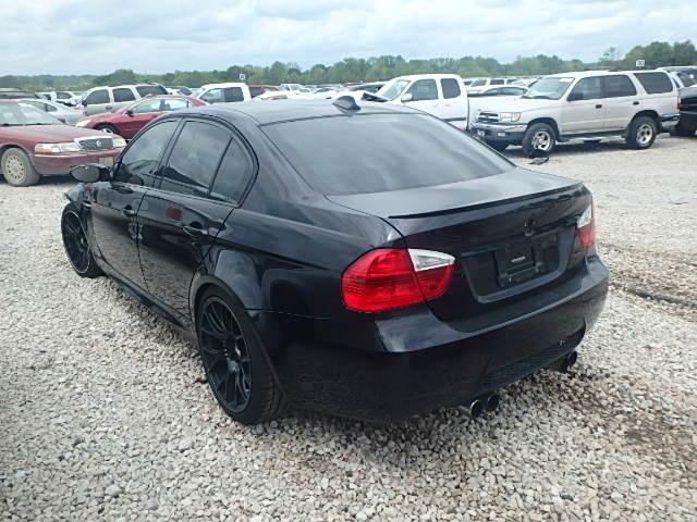 2008 Bmw M3 4 Door Black Sedan 6 Speed Damaged Front