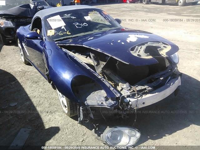 2006 Porsche Boxster S 3.2 Blue Damaged Front