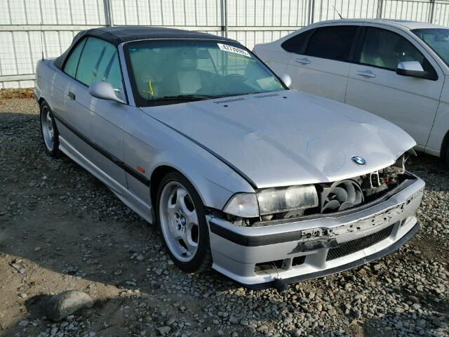 1999 Bmw M3 convertible Silver Damaged Front