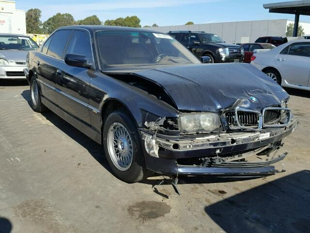 2001 Bmw 740IL black damaged front for parts