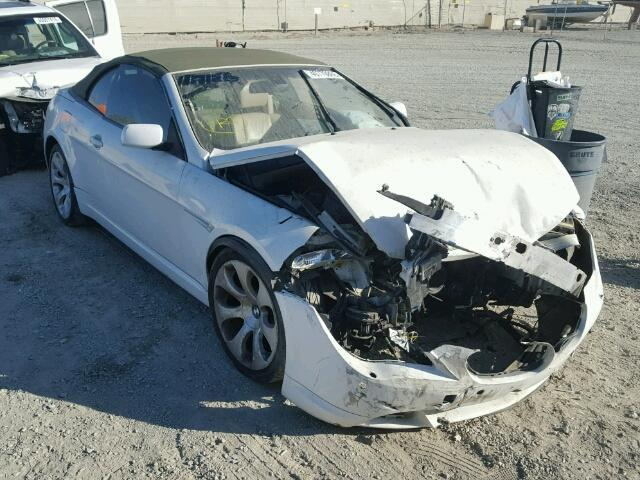 2004 Bmw 645Ci White Damaged Front