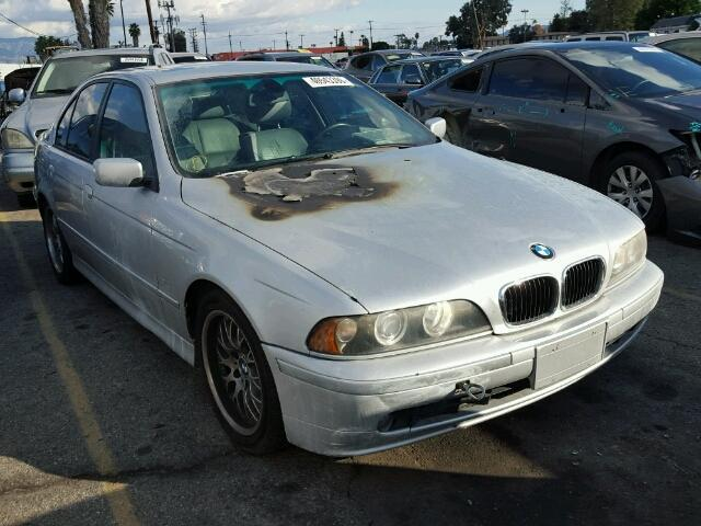 2001 Bmw 530I silver engine fire for parts