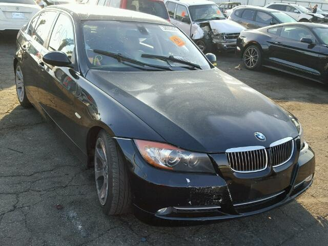 2008 Bmw 335I black damaged left front for parts