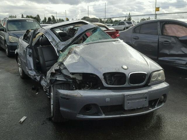 2005 Bmw 325Ci Grey Damaged Right Side