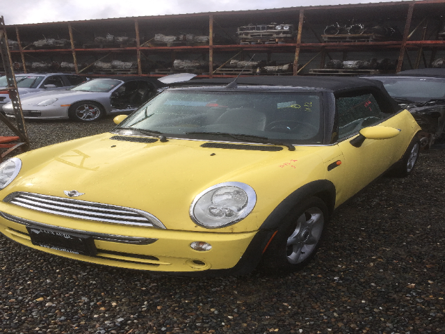 2005 Mini Cooper Non Supercharged Automatic Yellow Rear Damage