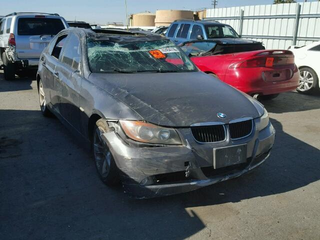 2007 Bmw 328I grey 4 door roll over damage for parts