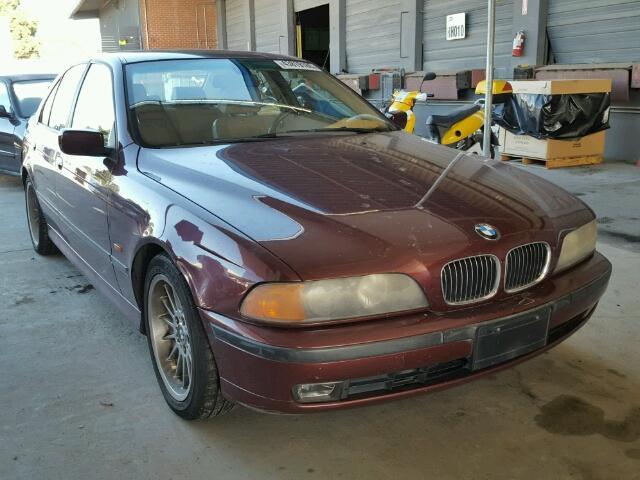 2000 Bmw 540I Burgundy 4 Door Mechanical Damage