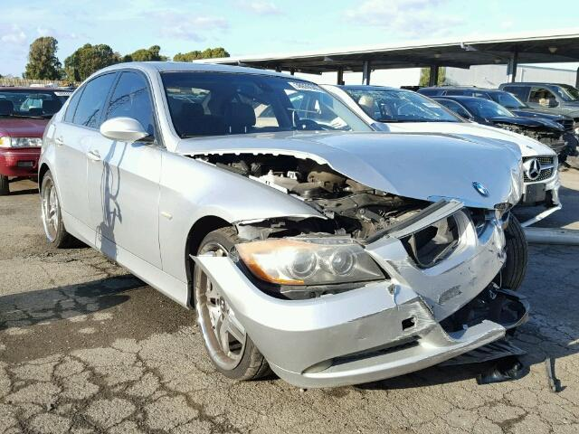 2006 Bmw 330I 4 door damaged front silver for parts