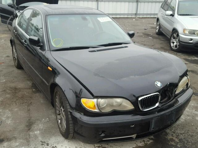 2003 Bmw 330I 4Dr Black Damaged Front