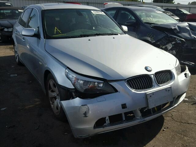 2006 Bmw 525I Silver Sedan Damage Left