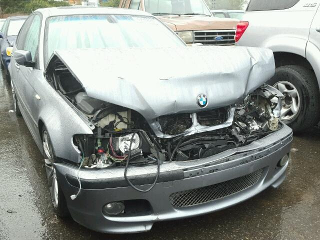 2004 Bmw 330Ci 4Dr Grey Hit Front