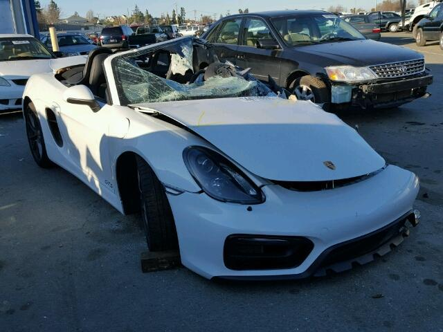 2015 Porsche Boxster Gts 3.4 White Hit Left Front