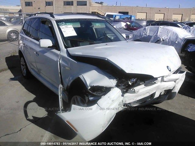 2007 Bmw X3 white hit front for parts