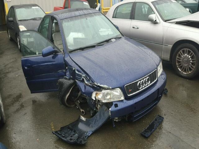 2001 Audi S4 Blue Hit Right Front