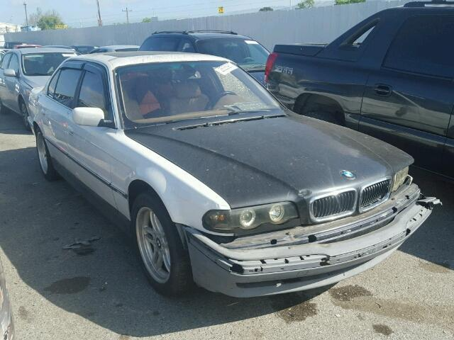 2000 Bmw 740Il White Damage Front
