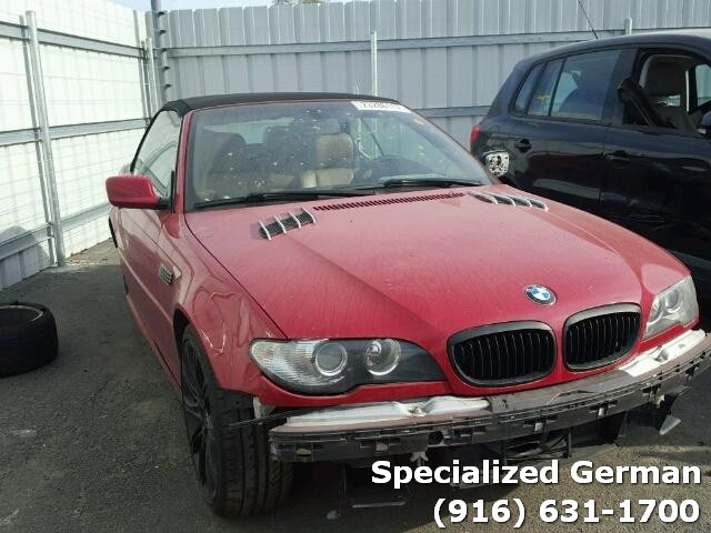 2005 Bmw 330Ci Red convertible Damaged Front