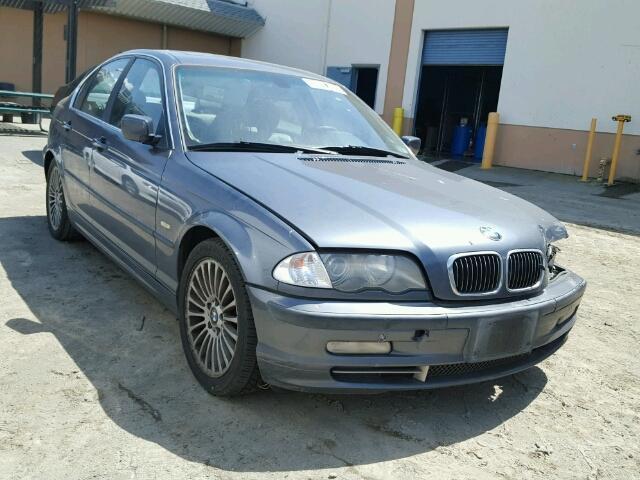 2001 Bmw 330I Sedan Grey Front Damaged