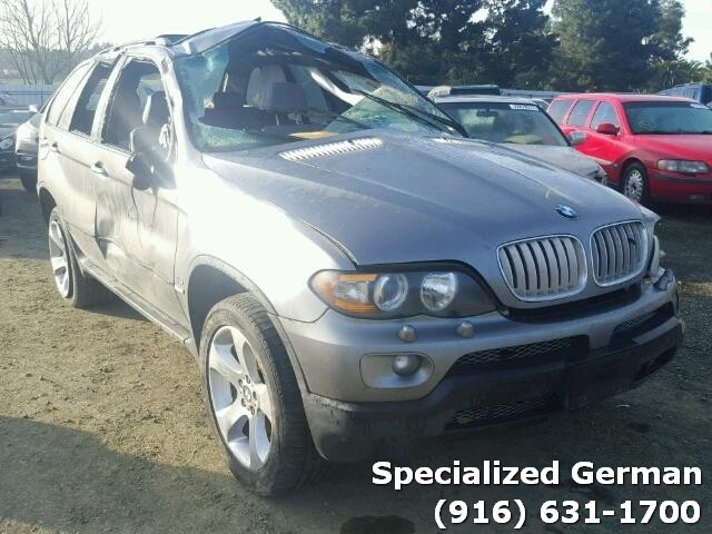 2005 BMW X5 Grey Damaged Rear For Parts