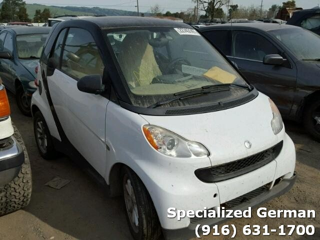 2009 Smart Fortwo Coupe White