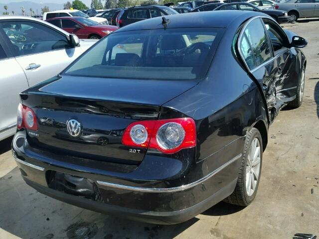 2010 PASSAT VOLKSWAGEN SDN 4DR/BLACK FRONT DAMAGE FOR PARTS
