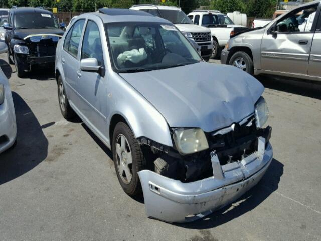 2002 Volkswagen Jetta sedan 4Dr/Silver Front Damaged