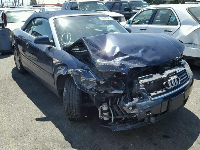 2004 Audi A4 convertible 2 door/Blue Front Damaged