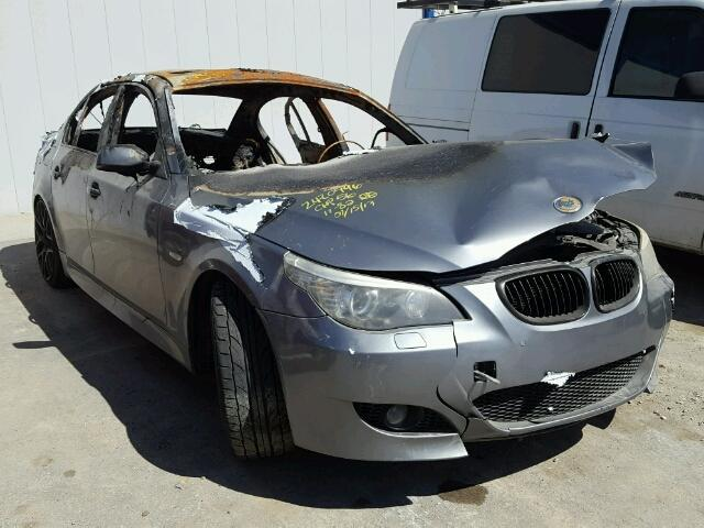 2008 535I BMW SDN 4DR/GREY FIRE DAMAGED FOR PARTS 300-70012C