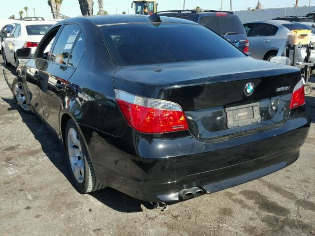 2007 Bmw 525i sedan 4Dr/Black Front Damage
