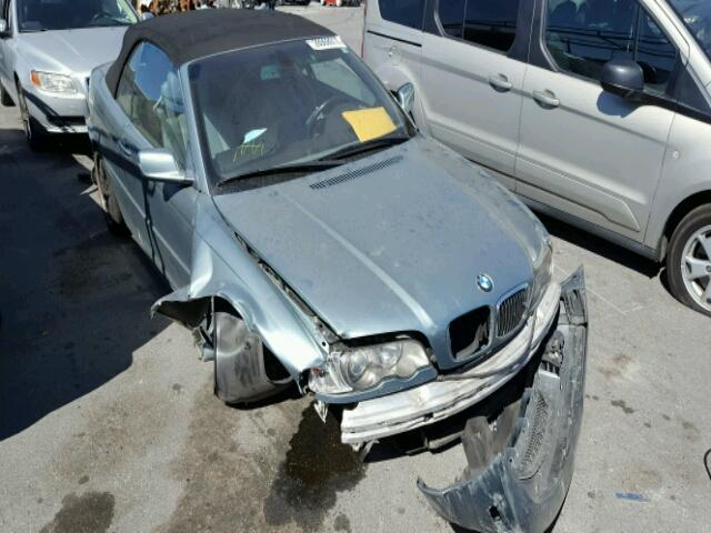 2003 Bmw 330Ci convertible 2 door/Green Front Damaged