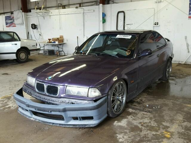 1996 Bmw M3 coupe 2 door/Purple Rear Damaged
