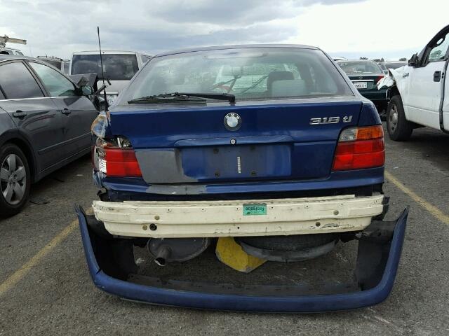 1999 318i bmw htbk 2dr/blue rear damaged for parts