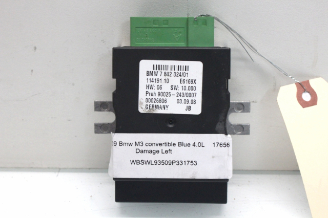 2009 BMW M3 Convertible E93 Fuel Pump Control Module 16147842024