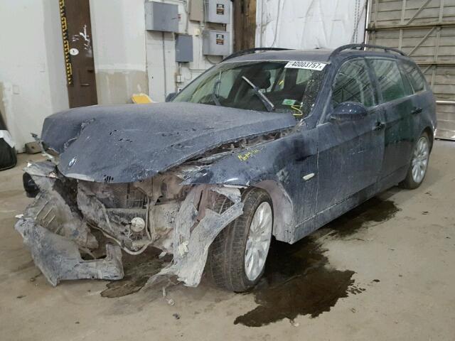 2008 BMW 328 XIT, S/W, black, 3.0, hit front