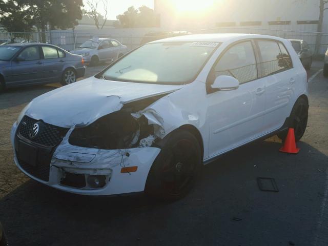 2008 VW GTI, 2.0L,a/t,4dr, white, hit lh front