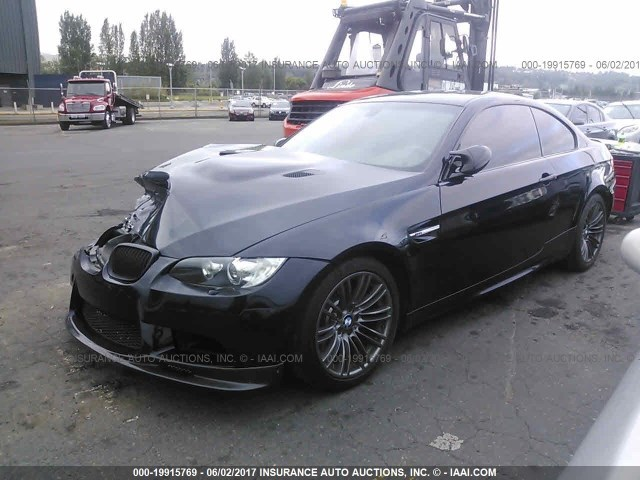 2008 BMW M3, 2dr Coupe, black, hit rh front