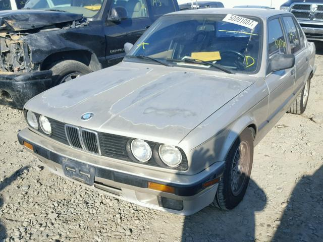 1989 BMW 325i, 2.5L, m/t,Sdn,gold, hit rh side