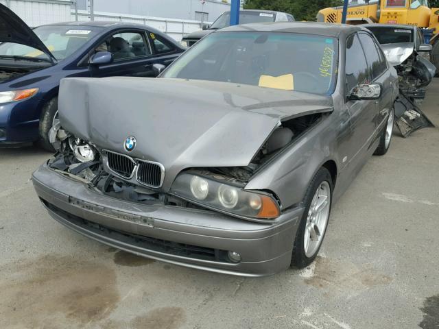 2002 BMW 540i, 4.4L,m/t,Sdn,grey, hit front & rear
