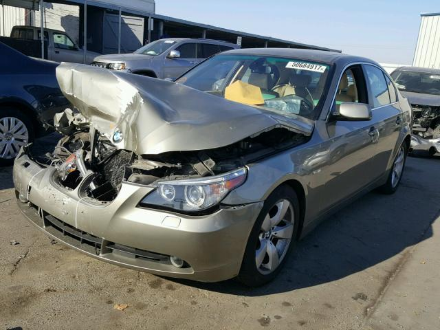 2007 BMW 525i, 3.0L, a/t,Sdn,Green, hit front