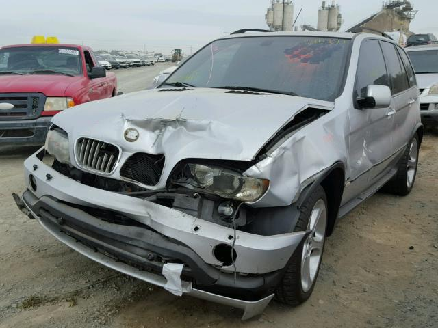 2002 BMW X5 E53 4.6L AT AWD Silver Hit front