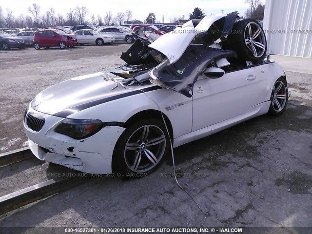 2007 BMW M6 E63 5.0L, SMG, White, hit rear