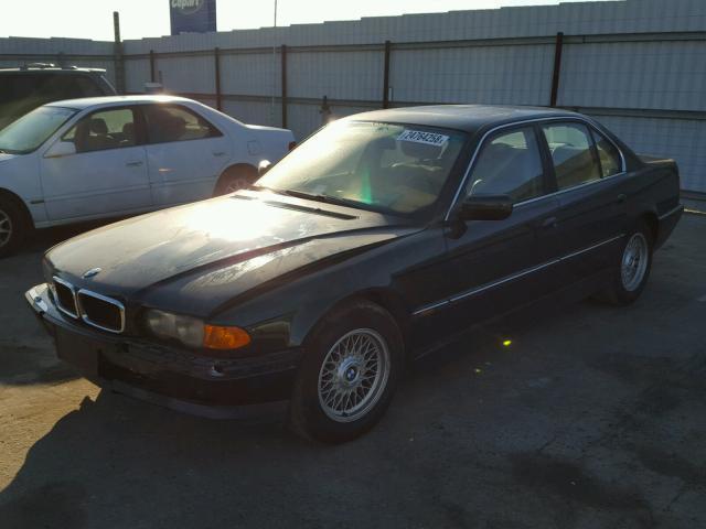 1999 BMW 740i E38 4.4L, a/t, Rwd, Green, hit front