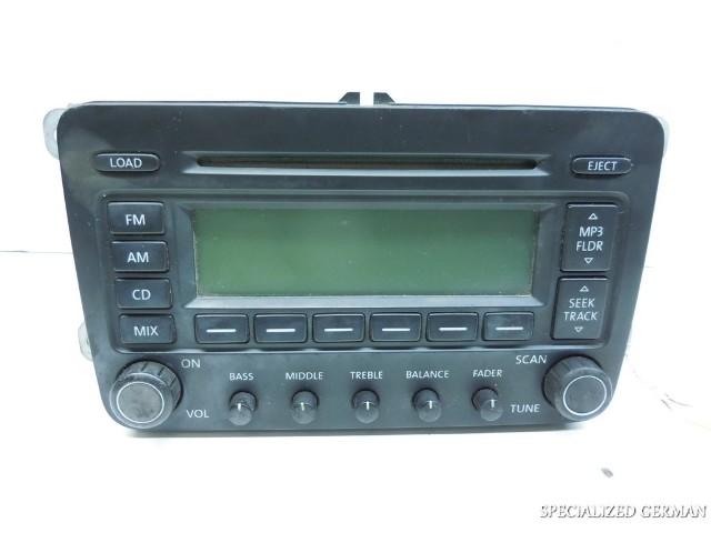 Volkswagen Jetta Gti Rabbit Stereo Radio Has Cracked Knobs 1K0035180DX No Code