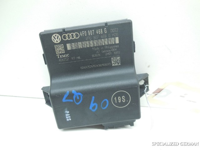 2007 2008 2009 Audi Q7 Onboard Supply Control Unit Interface 4F0907468G