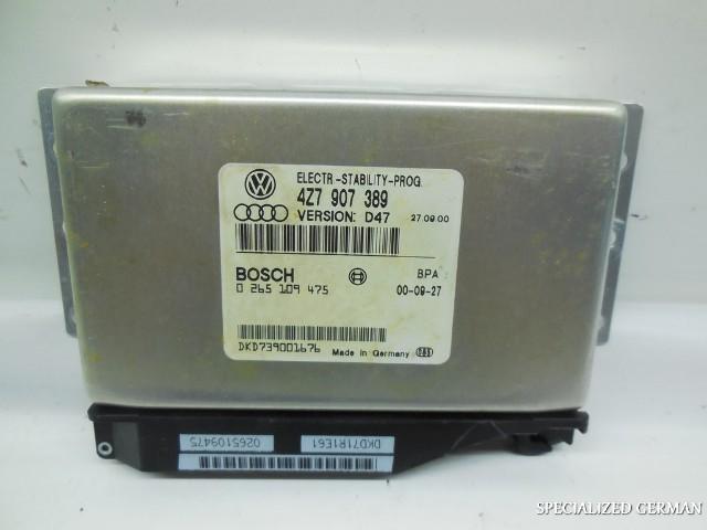 2001 2002 Audi Allroad ESP Stability Module Computer 4Z7907389