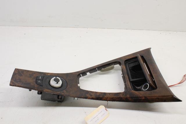 2007 2008 BMW 328i Center Console Trim Wood with Control Switch 51167137484