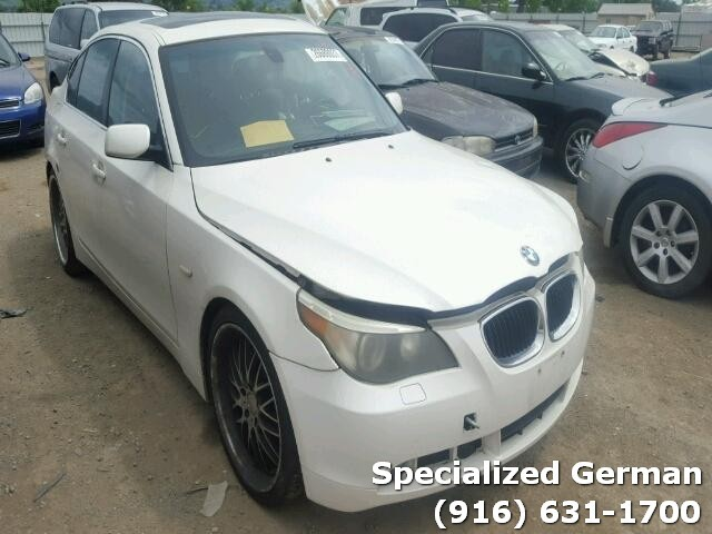 2006 BMW 525i White Sedan For Parts
