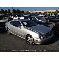 2001 Mercedes CLK55 AMG hit front and rear silver for parts