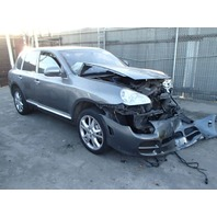 2004 Porsche Cayenne grey 4.5 automatic damaged front for parts