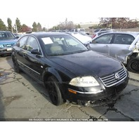 2002 Volkswagen Passat black 2.8 automatic damaged right front for parts